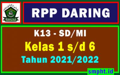 RPP Daring 1 Lembar SD/MI Kelas 1 2 3 4 5 6 Semester 1 dan 2 Tahun 2021-2022