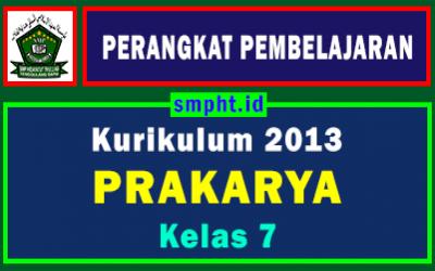 Perangkat Pembelajaran Prakarya Kelas 7 Tahun 2021-2022
