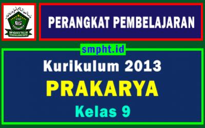 RPP 1 Lembar Prakarya Kelas 9 Semester Ganjil Tahun 2021-2022