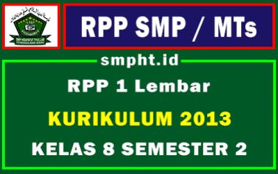 RPP 1 Lembar Kelas 8 Semester 2 Lengkap